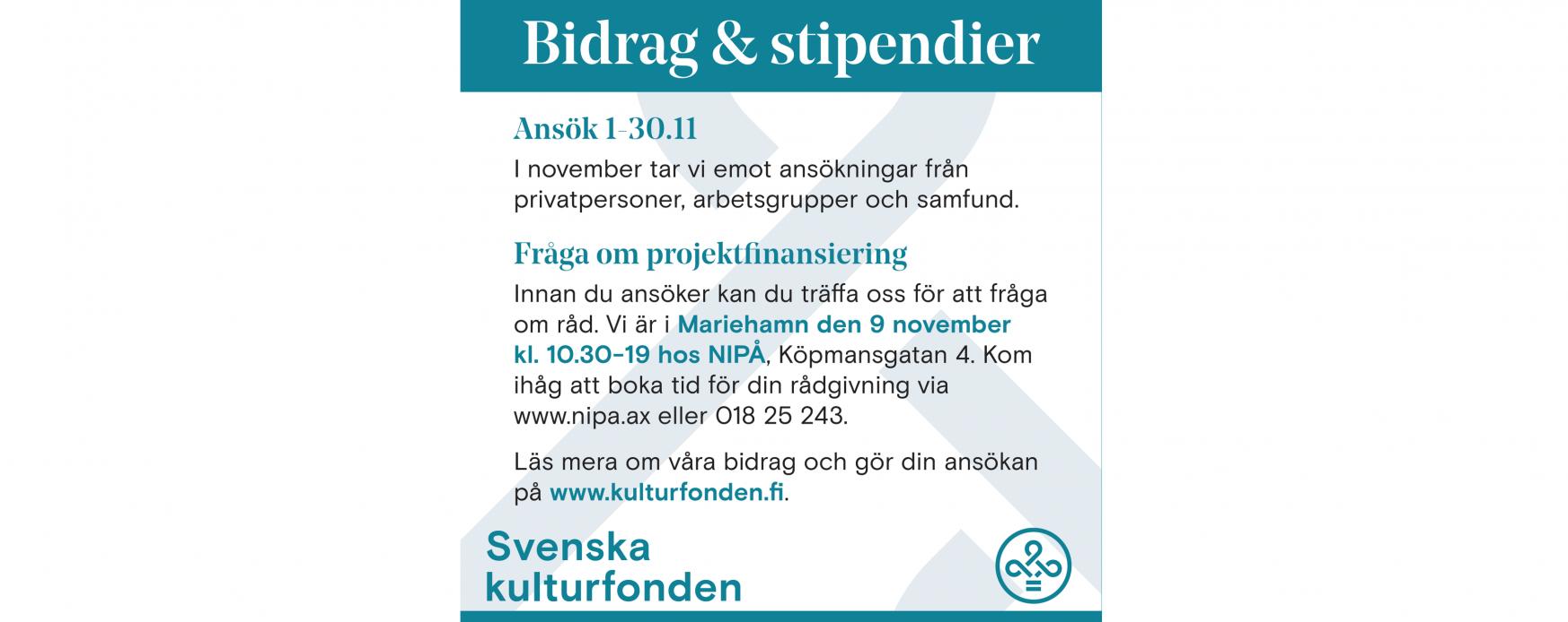 Infotillfälle med Svenska Kulturfonden