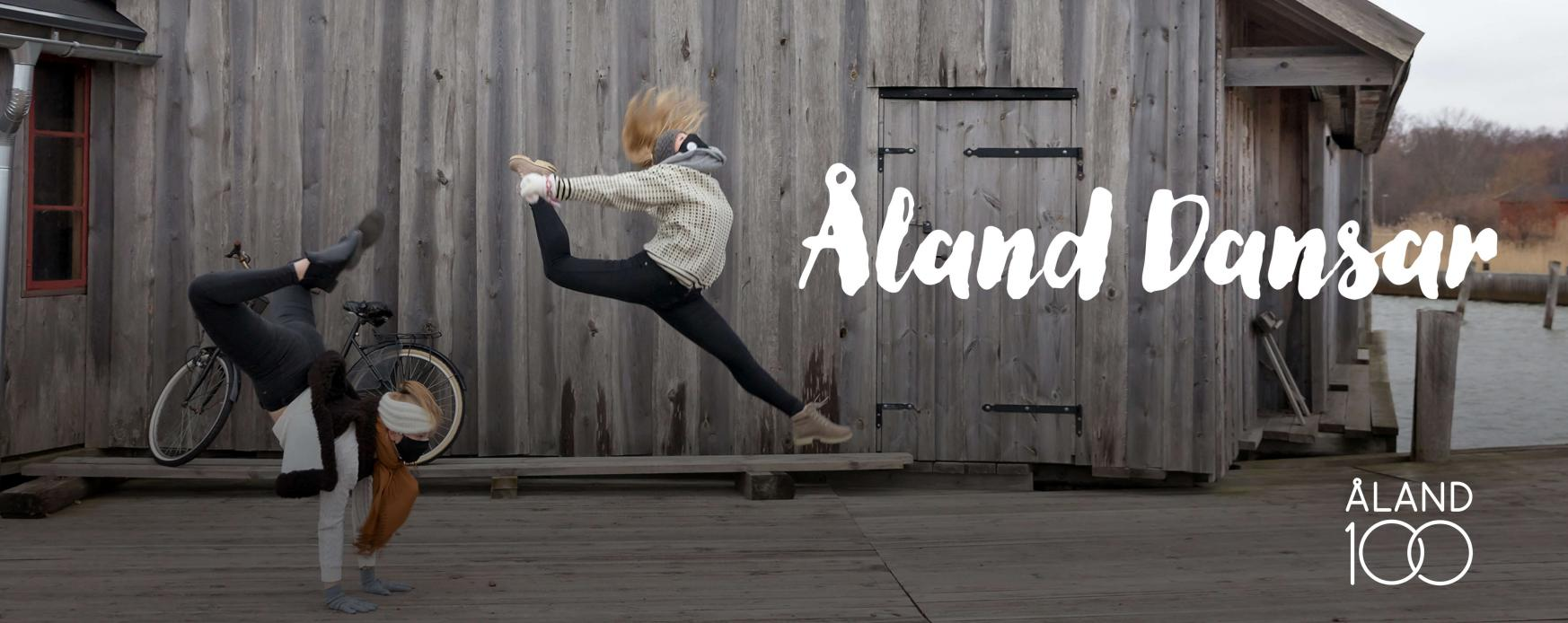 Bilden visar en av dans-övningarna inför inspelningen av Åland Dansar. Foto: Tinca Björke för Nordens institut på Åland.