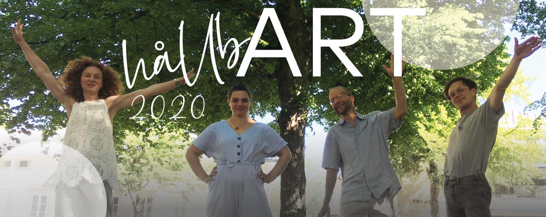 På bild ses några av de artister och konstnärer som vi får uppleva under hållbART 2020.