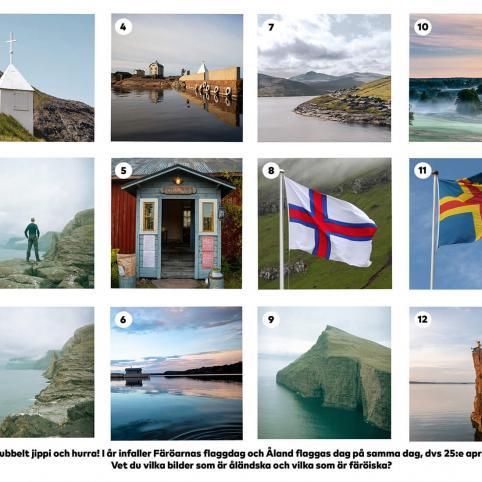 Bilder från Färöarna och Åland. Tävlingen pågår på Facebook.