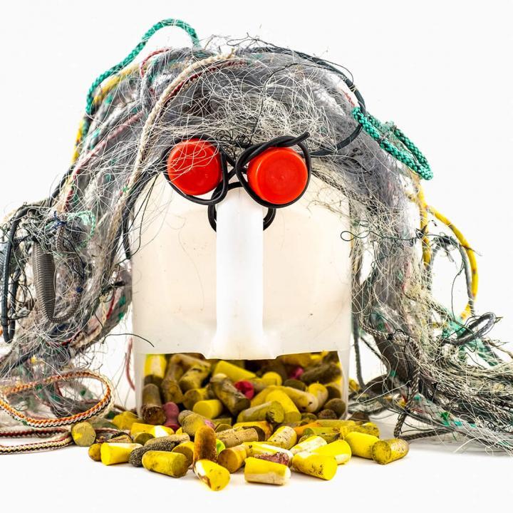 Art installations of rubbish. Photo art by Johanna Sandin at nipa.ax on 24.6-24.8