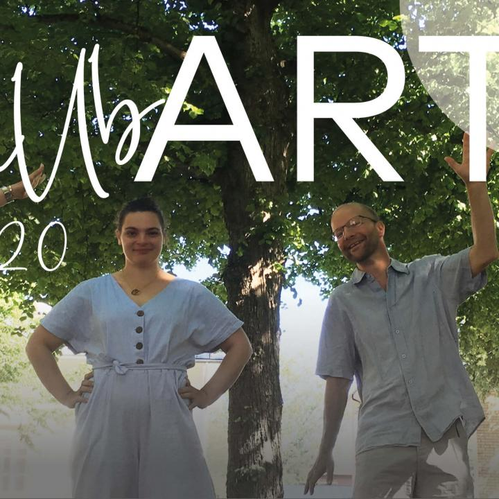 The picture shows some of the artists and artists that will performe during hållbART, the digital festival with focus on sustainability.