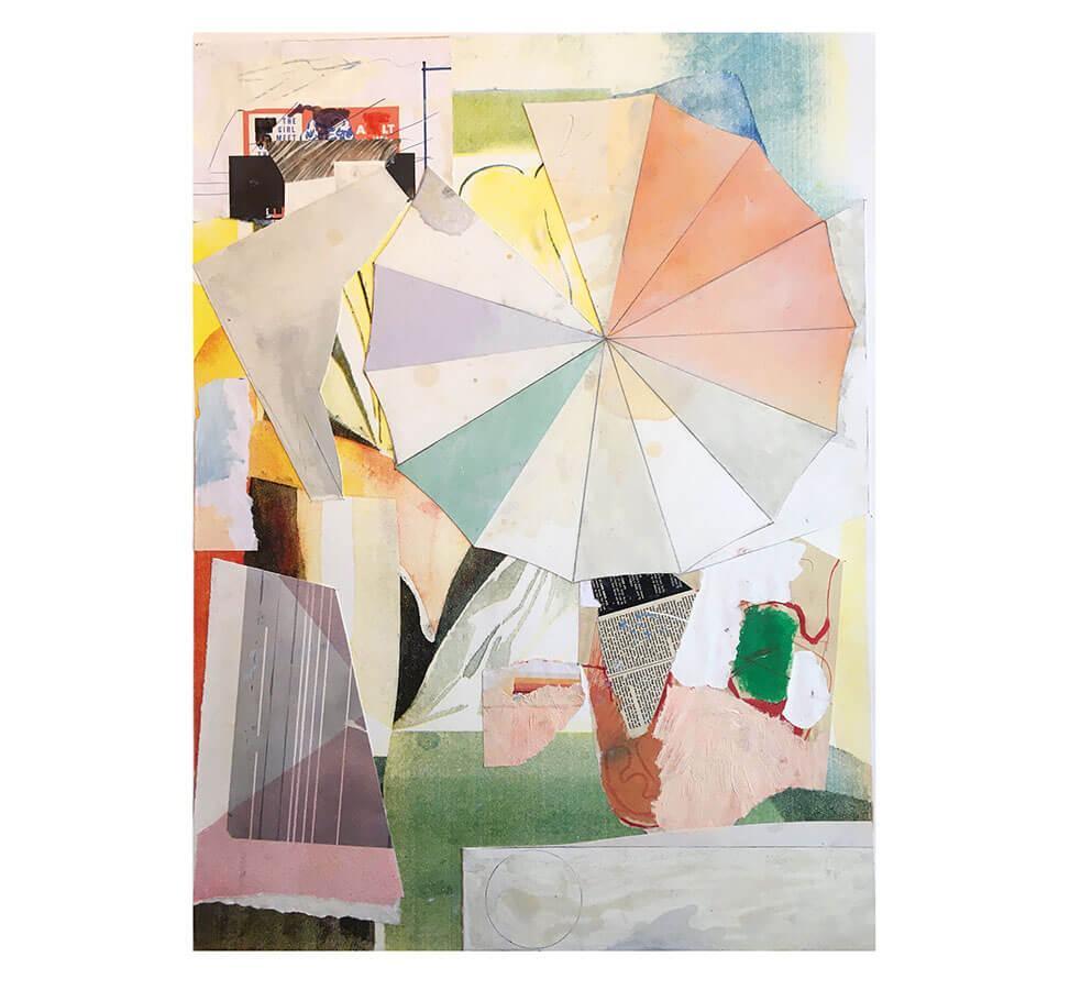 Ingen titel. 76 x 56 cm. Silkscreen och olja på papper. Nicolay Aamodt.