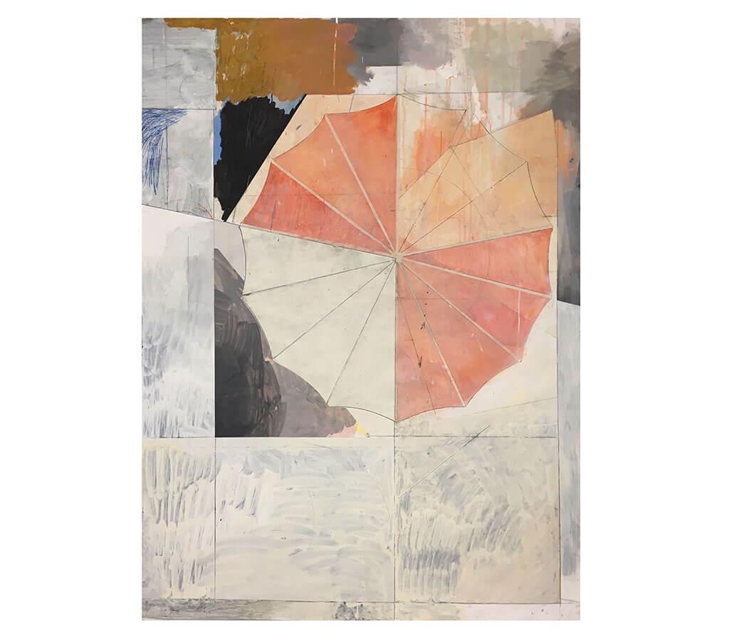 Ingen titel. 140 x 100 cm. Collage olja på papper. Nicolay Aamodt.