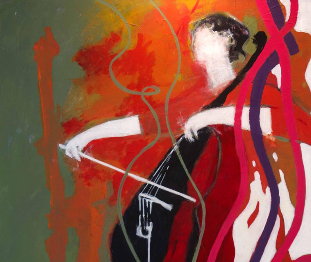 Cello No 3. Akryl, 86x118 cm