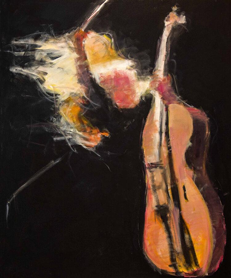 The End. Akryl, 81x96 cm