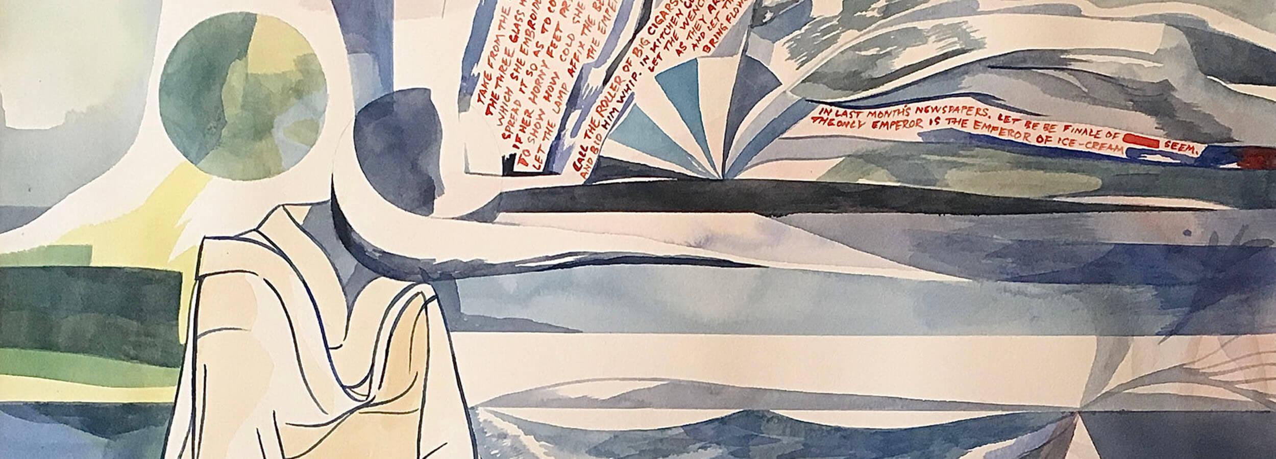 """Bilden visar en inzoomning av konstverket """"The emperor of ice cream after Wallace Stevens"""". Nicolay Aamodt."""