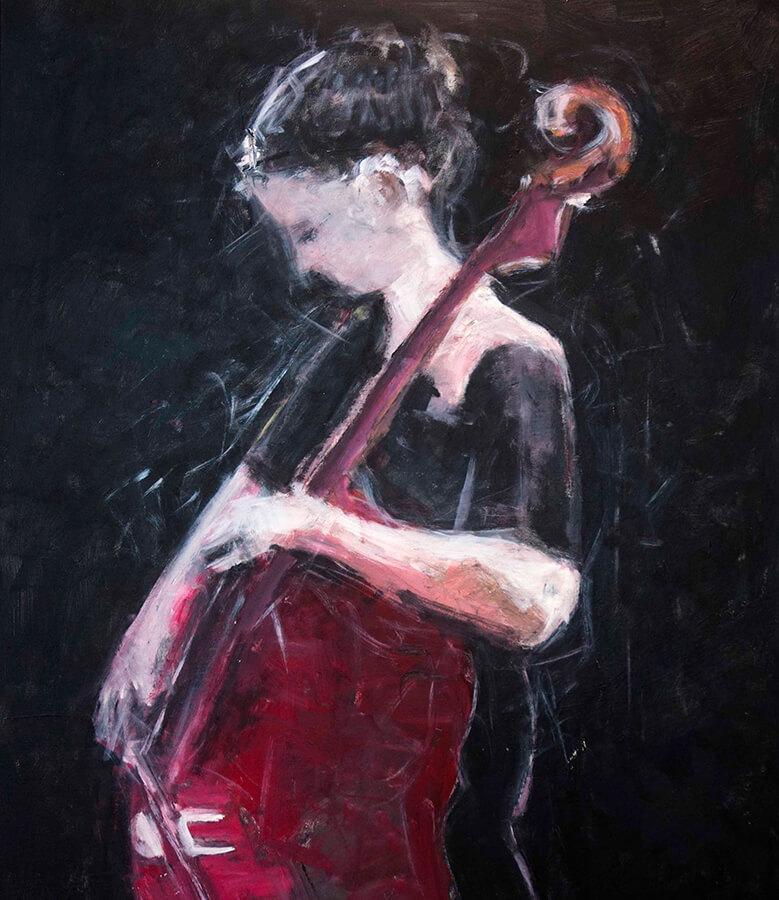 Cello No 2. Akryl, 81x96 cm