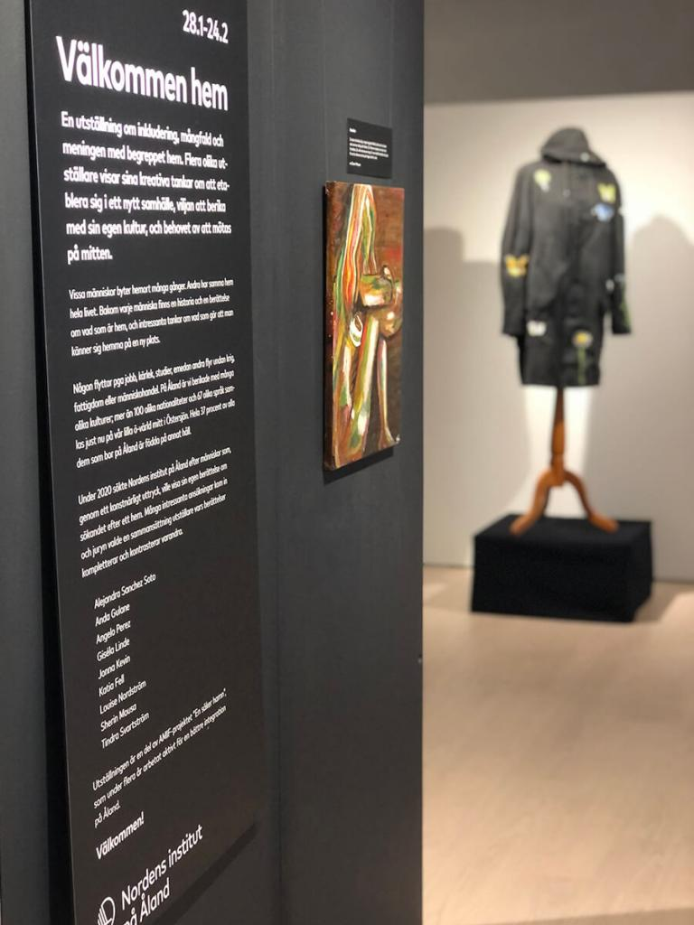 """Picture from the exhibition """"Welcome home"""" at The Nordic Institute on Åland"""
