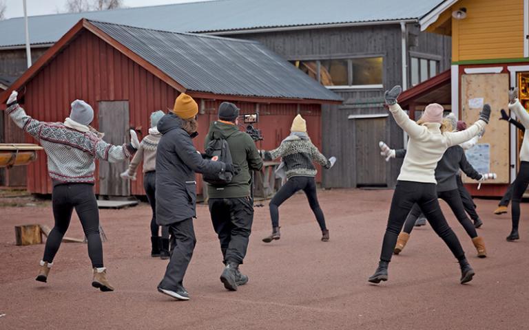 Fillmning för Åland Dansar, NIPÅ. Foto: Tinca Björke