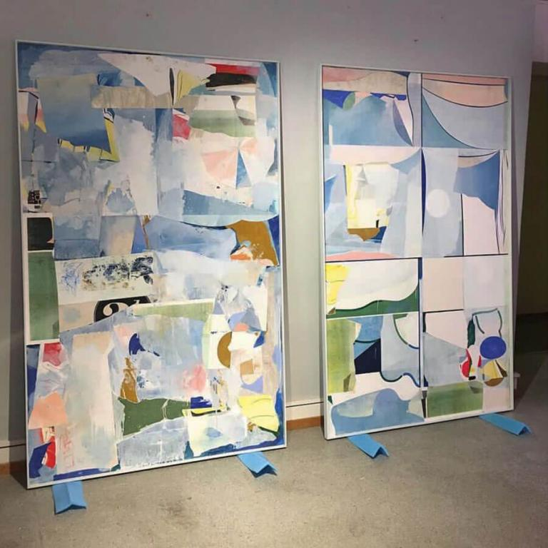 Picture of two large works by Nicolay Aamodt