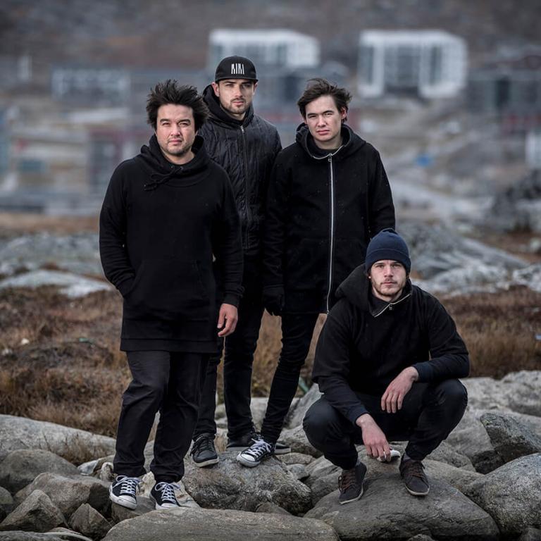 Bild av bandet Small time giants