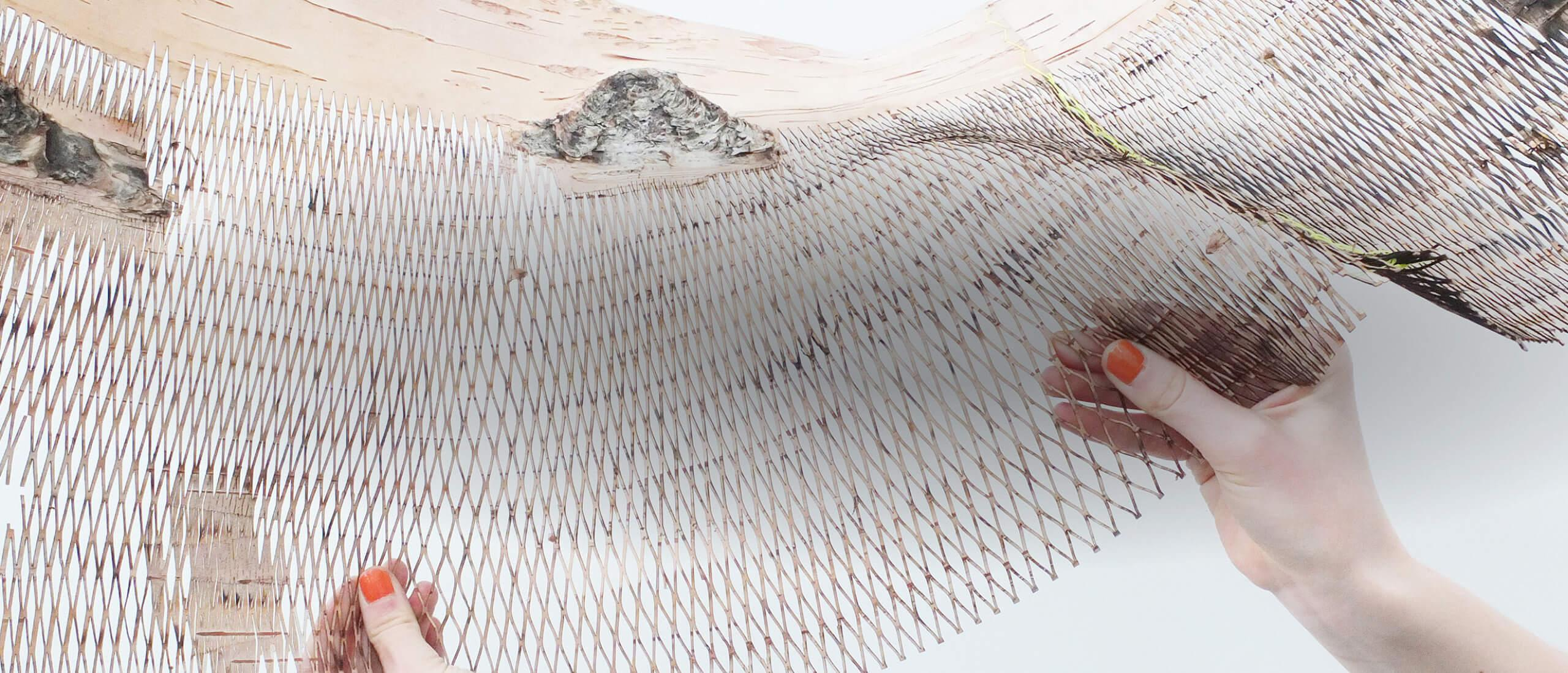 Its Now or Näver - an exhibition which is based on birch bark, on the Nordic Institute in Åland
