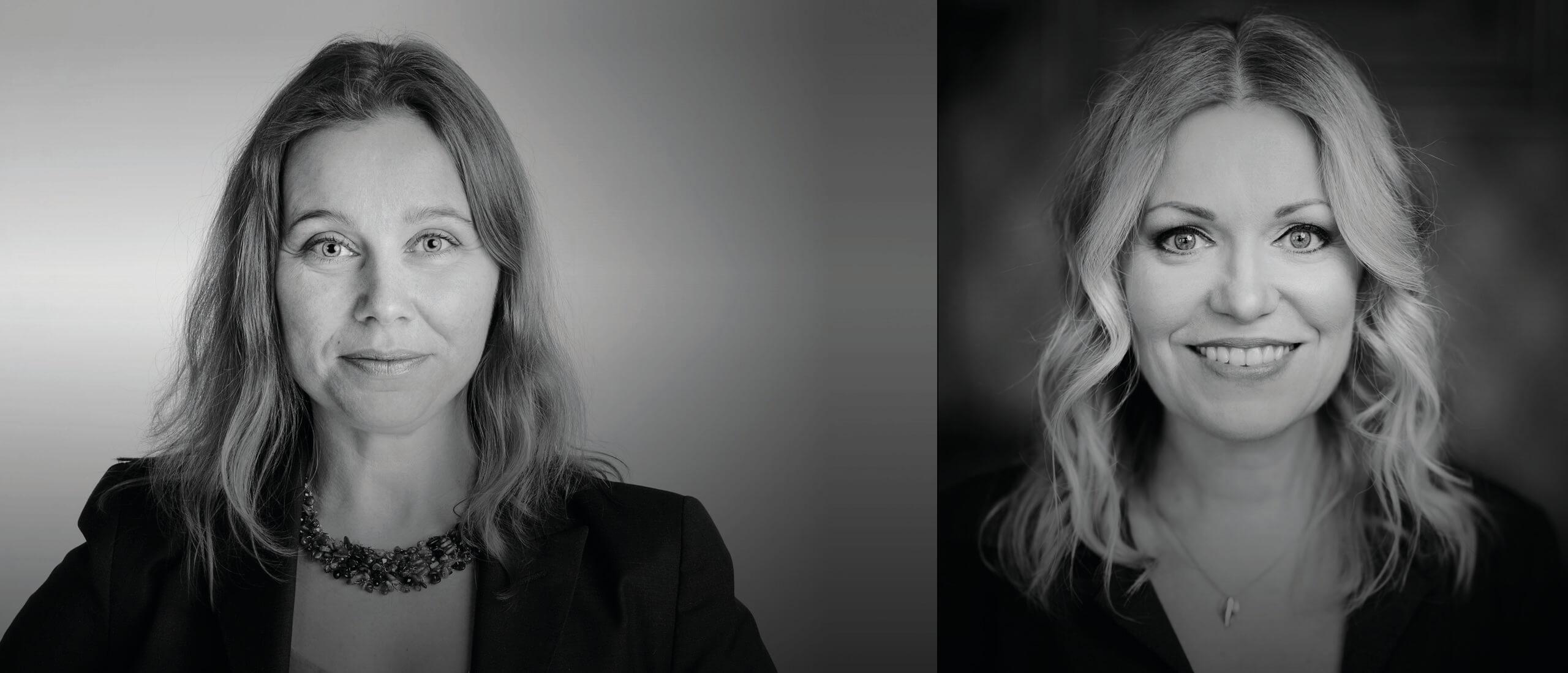 """Bild av Hanna Hagmark och Isabella Grüssner inför samtalskvällen """"Två skilda liv"""" på NIPÅ Nordens institut på Åland"""