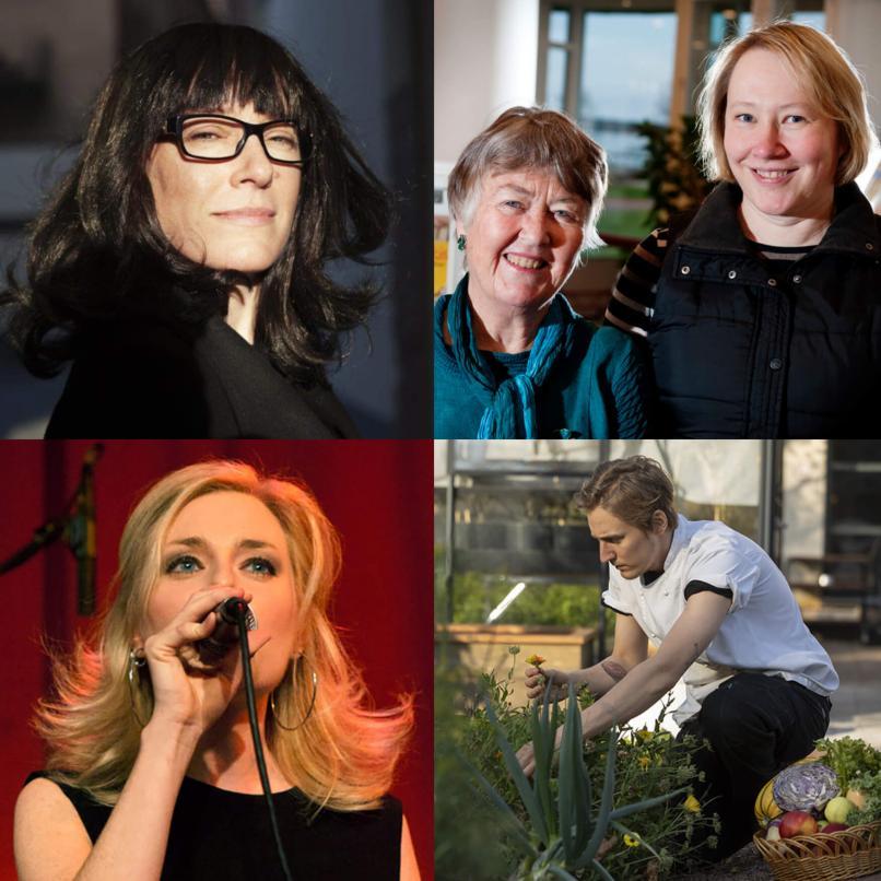 Liselott Wilén, Johanna Grüssner, Ann-Christin Waller, Anni Wikberg och Emmaus Åland - nominerade
