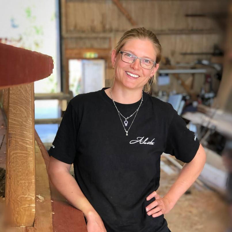 Picture of Madeleine Harms, boat builder at Alanta