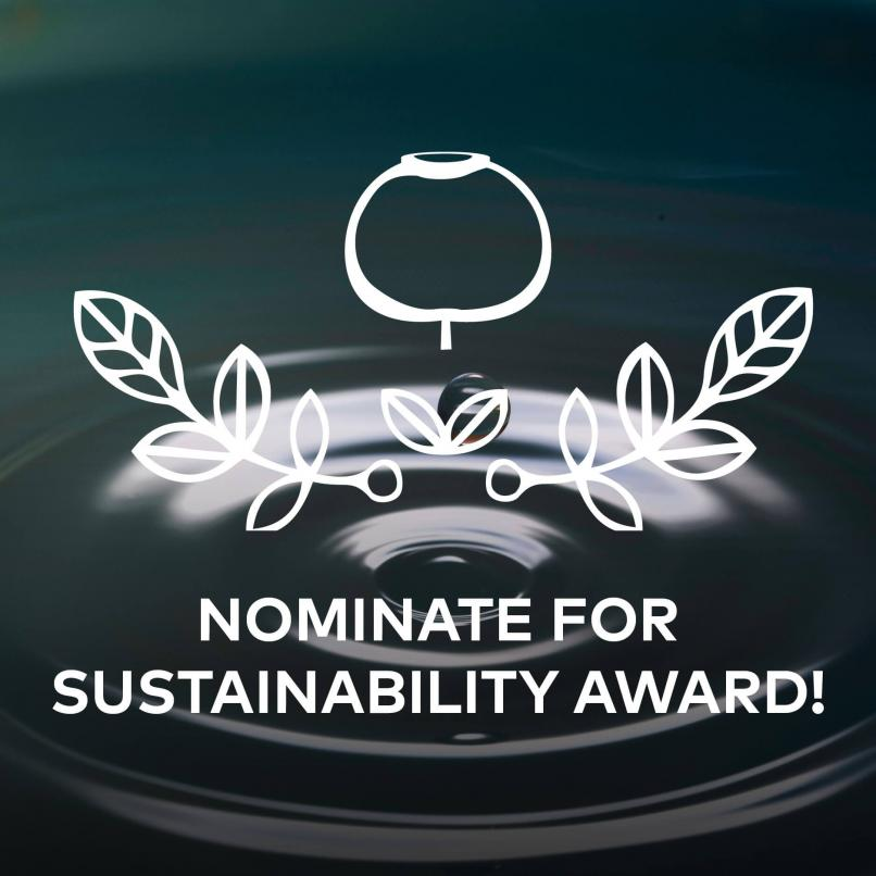 Time to nominate to this years Sustainability Award