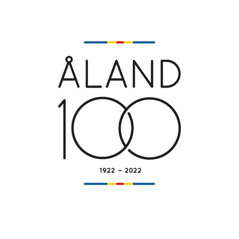 The picture shows the Åland100 logo.