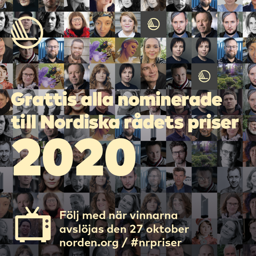 The Nordic Council's award ceremony 2020 will be digital